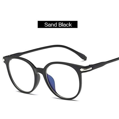 GUHBDR Brillen Frauen Brillengestell Männer Anti Blau Licht Brillengestell Vintage Runde Klare Linse Brillengestell