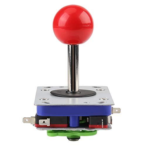 Fishlor Kit Arcade DIY (faça você mesmo), Joystick, 2/4/8 Way Clássico Leve Bola Vermelha de Competição para Meninos Arcade, Adultos, DIY