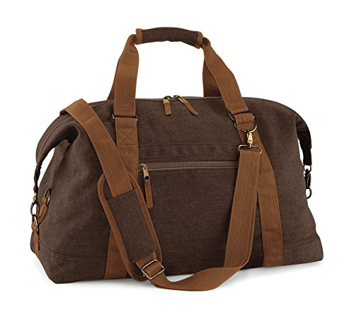BagBase Vintage Canvas Weekender, shopper, boodschappentas, schoudertas, cult brown