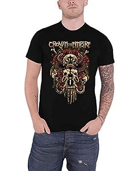 Crown The Empire T Shirt Sacrifice Band Logo Official Mens Black Size L