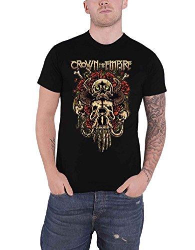 Crown The Empire T Shirt Sacrifice Band Logo Nouveau Officiel Homme Noir Size L