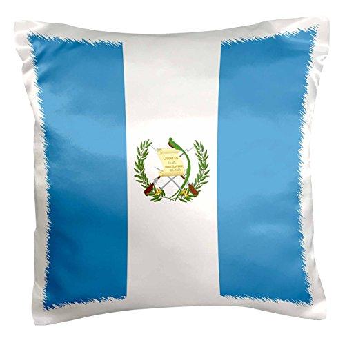 3dRose Flagge von Guatemala–Sky Blau & Weiß mit Guatemala Wappen–Quetzal (Vogel) Vogel–Kissen Fall, 16von 16Zoll (PC 158323_ 1)