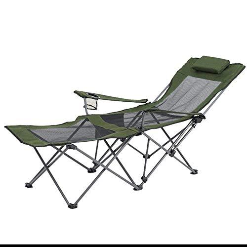 WJJJ Klappbett für den Außenbereich, tragbar, für Reisen, Krankenhaus, Büro, Mittagessen, Schlaf, Camping, Bett, Angelbett, Dunkelblau