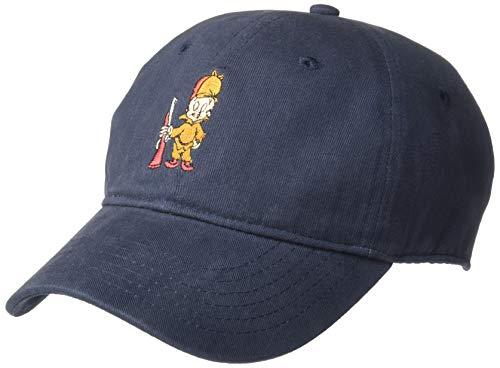 Warner Bros. Men's Looney Tunes Elmer Fudd Baseball Cap, Navy, One Size