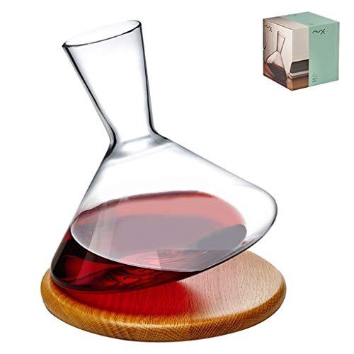JYKJ Wijn Decanter, Kristal Glas Whiskey Decanter Creatieve kan worden Italiaanse Wijnfles Thuis Rode Wijn Snelle Drinken Europese Wijn High-Grade Wijn beluchting Wake Fles