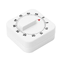 Fan-Ling 60 Minutes Mechanical Timer with Alarm for Kitchen Cooking,Home Kitchen Chef Mini Count-Down Timer,Cooking Time Reminder,60 X 60 X 35mm