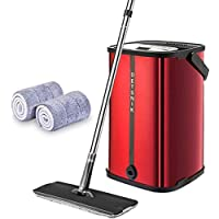 Detsnik 2 Washable & Reusable Mop and Stainless Steel Bucket System
