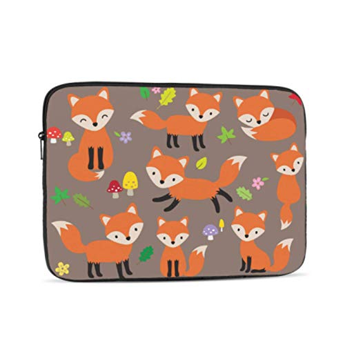 MacBook Pro 2016 Case Cute Fox Vector Illustration Various Poses Mac Covers Multi-Color & Size Choices10/12/13/15/17 Inch Computer Tablet Briefcase Carrying Bag
