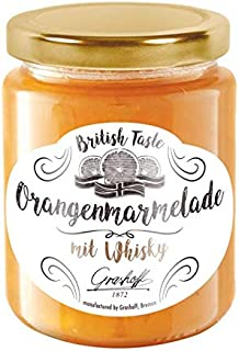 Grashoff British Taste Orangenmarmelade mit Whisky. Leckere Marmelade englischer Art . Ausgezeichnet zum Frühstück . Verschiedene Sorten . 250 g