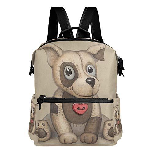 Mokale Netter Hundespielzeug-Illustrations-Perfekter Gruß,Laptop Rucksack Lederband Schultasche Outdoor Travel Casual Daypack