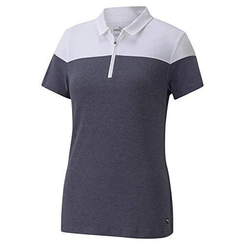 PUMA Golf 2020 Women's Colorblock Polo Peacoat Heather, Small