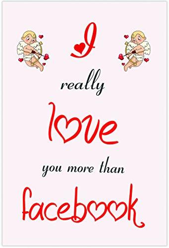 Ik hou van Facebook Themed Card - Valentijnsdag/Verjaardag/Verjaardagskaart voor hem of haar