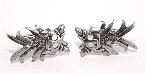 Boutons de Manchette Masque d'Odin (avec Boîte à Cadeau)