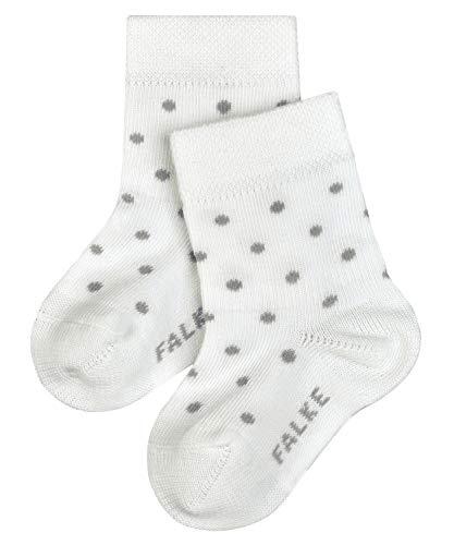 FALKE Unisex Baby Little Dot B SO Socken, Weiß (Off-White 2040), 6-12 Monate (74-80cm)