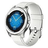 XYZK Smart Watch Women HD Touch Touch Clock Fitness Tracker Monitor De Ritmo Cardíaco para Android iOS,A