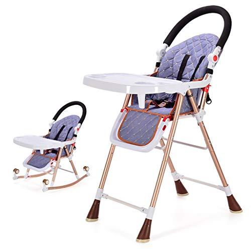 Qujifangedcy Kinderen Eetkamerstoel, Multifunctionele 4 in 1 Verplaatsbare Opvouwbare Eet met Speeltafel Recliner Kinderstoel, voor Thuis, voor 0-6 Jaar Oude Kinderen