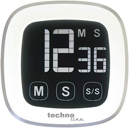 Technoline KT 400 Kurzzeitwecker digital, weiß-silber
