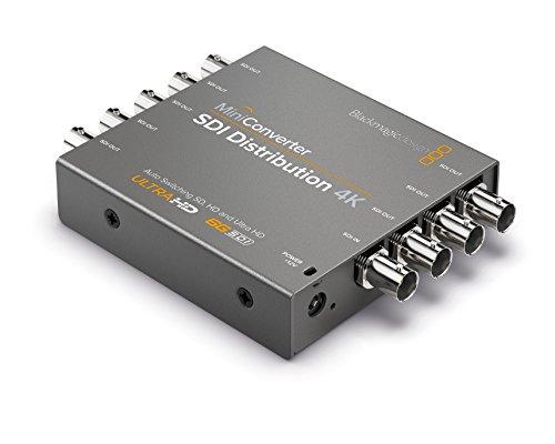 Blackmagic Design Mini Converter SDI Distribution 4K - Conversor de vídeo (12 - 31, Gris, 0 - 40 °C, -20 - 45 °C)