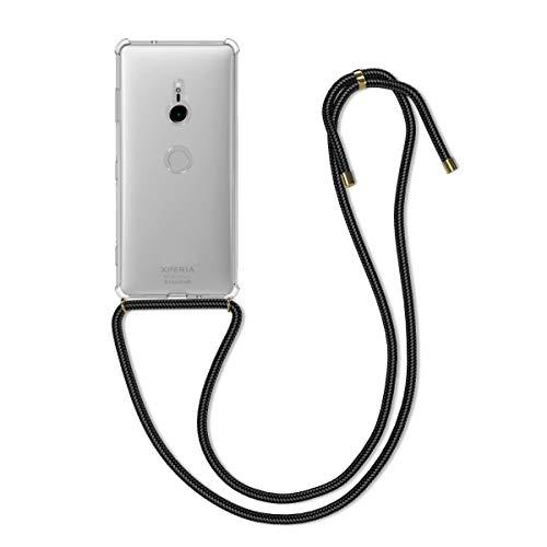 kwmobile Schutzhülle kompatibel mit Sony Xperia XZ3 - Hülle mit Kordel zum Umhängen - Silikon Handy Case Transparent