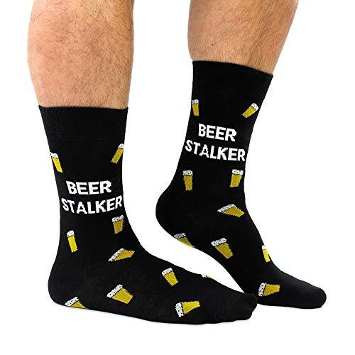 trendaffe Bierglas Beer Stalker Socken in 39-46 im Paar - Bierkrug Beer Stalker Strumpf