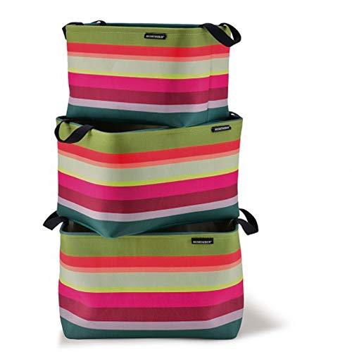 Remember Aura Lot de 3 paniers en polyester Multicolore 42 cm