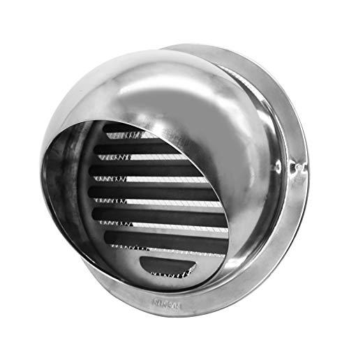 Moonjor Campana extractora externa de acero inoxidable 304, redonda, para apartamentos, viviendas, decoración del hogar (6 pulgadas, 150 mm)
