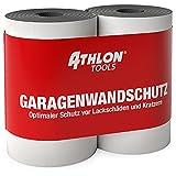 ATHLON TOOLS 2x FlexProtect Protection murale de garage, longueur de 2 m respectivement, protection des arêtes de portières de voiture extra épaisse, adhésive, étanche