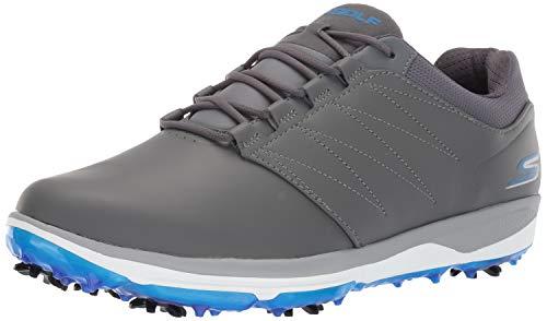 Skechers Golf 2019 Chaussures de Golf à Crampons Go Golf Pro V.4 pour Hommes Grey/Blue 8.5UK