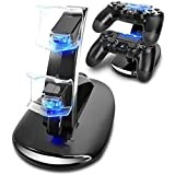 PS4 Accessories Dual Micro USB Charger Dock Joystick PS4 Charging Station for PlayStation 4 Dualshock 4 Controller Charger Stand