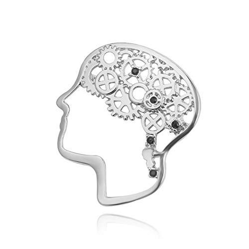 Mode Ärzte Abzeichen Emaille Pin Mikroskop Stethoskop Gehirn Lunge Hubschrauber Brosche Krankenschwester Medizinisches Symbol Frauen Geschenk Schmuck, Gehirn