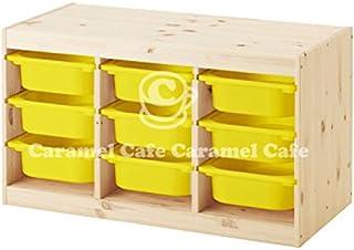 IKEA TROFAST(トロファスト)収納コンビネーション パイン材 イエロー 94x44x52cm PY-Y9