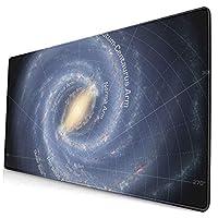 マウスパッド 大型 ゲーミング デスクマット 天体 銀河 座標 宇宙 かわいい 防水性 耐久性 滑り止め 多機能 超大判 40cm×75cm