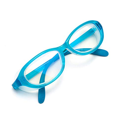 JIMMY ORANGE子供用 花粉メガネ ブルーライトカット メガネ 紫外線 粉塵 PM2.5 対策にも ゴム テンプル キッズ 眼鏡 フレームBU