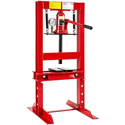 TecTake Werkstattpresse Hydraulikpresse pneumatisch mit Manometer | Gewicht: 36kg | - Diverse Modelle (6 Tonnen | Nr. 401669)