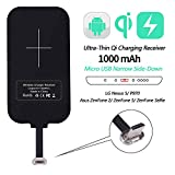Nillkin Qi Receiver Micro USB Narrow Side Down, Thin Wireless Charging Receiver, Micro USB Wireless Charger Receiver for LG Nexus 5/P970/ZenFone 2/5 and Other Micro USB Android Cell Phones