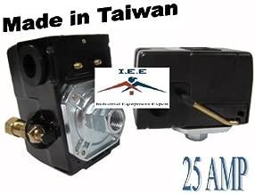 HEAVY DUTY 25 AMP AIR COMPRESSOR PRESSURE SWITCH CONTROL VALVE 95-125 PSI 1 PORT