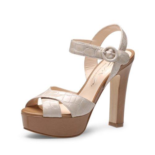 Evita Shoes Damen Sandalette elegant Sandalen, Weiß (alpinweiß), 38 EU