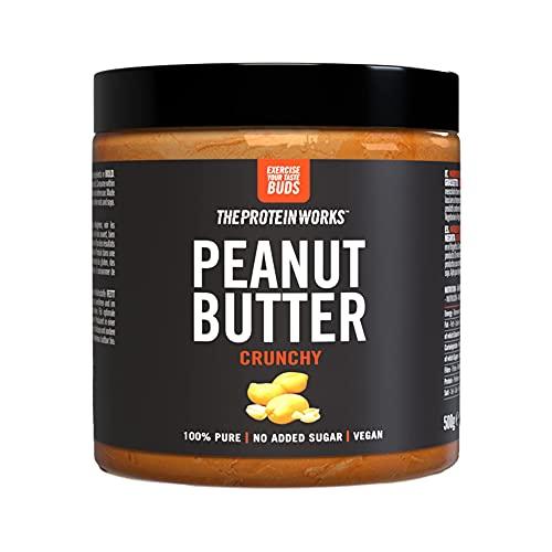 The Protein Works Beurre de Cacahuètes 100% Naturel sans Sucre Ajouté Croustillant 500 g