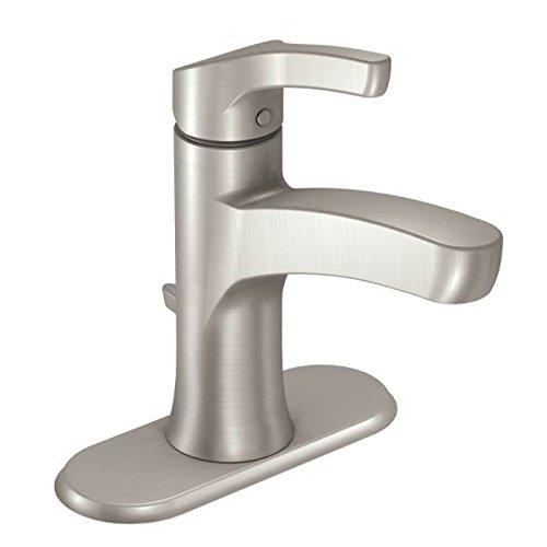 Moen WSL84733SRN Danika Single Handle 1 Hole Bathroom Faucet, Spot Resist Brushed Nickel