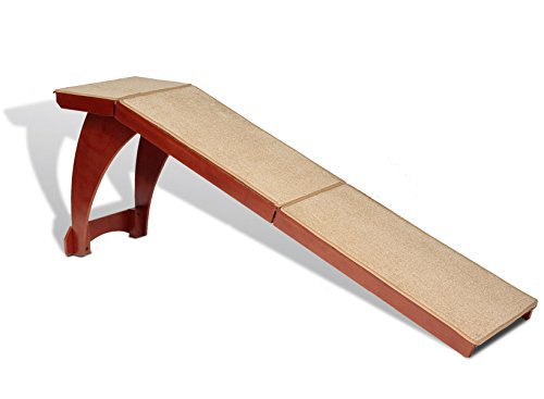 PetSafe Solvit Wood Bedside Dog and Cat Ramp, Wood Pet Ramp for Bed, 70 in. L x 16 in. W x 25 in. H