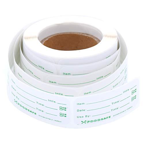 YMWALK 300 Stück Gefrierschrank Lebensmitteletiketten, selbstklebende klebrige Datteletiketten 5x2,5 cm, abnehmbare Lebensmittelaufbewahrung Gefrieraufkleber für Home Restaurant Food Date