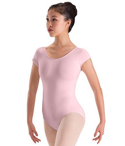 Motionwear Cap Sleeve Dance Leotard, Pink, Intermediate Child