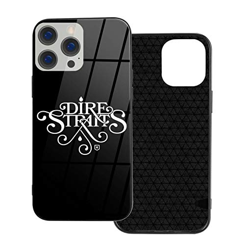 HPOFKEOEF Dire Straits Logo Cool iPhone 12 Series Glass Phone Case Shockproof Protective Cover Ip12-6.1