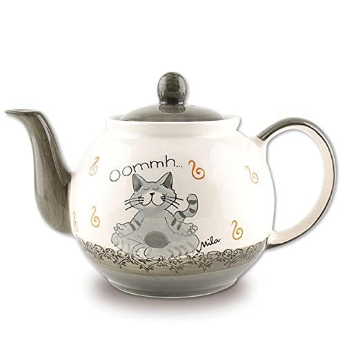 Mila Keramik-Teekanne, Oommh Katze Pure, ca. 1,2 Liter | MI-94402 | 4045303944022