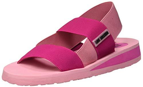 Love Moschino Damen San. Lod. Gomma30 Elastico Peeptoe Sandalen, Pink (Fuxia/Rosa 60a), 39 EU