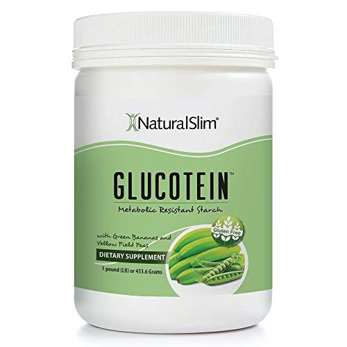 "NaturalSlim GLUCOTEIN ""Resistant Starch"" w/ Green Banana & Field Peas - Promotes Healthy Gut Digestive Health & Metabolism - Non GMO Natural Fiber Powder Gluten & Grain Free 1 LB Vegan Flour Mix"