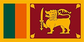 Kiwistar Autoaufkleber Sticker Fahne Flagge Aufkleber 10cm Sri Lanka laminiert sehr Lange Haltbar