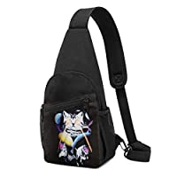 ボディ肩掛け 斜め掛け 猫 創意デザイン おもしろ 3dプリント ショルダーバッグ ワンショルダーバッグ メンズ 軽量 大容量 多機能レジャーバックパック
