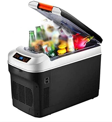 Refrigerador de coche Mini bebidas Nevera sin ruido Minibar Refrigerador de doble núcleo Refrigeración Doble propósito Alimentado Refrigerador y calentador Pequeño Refrigerador