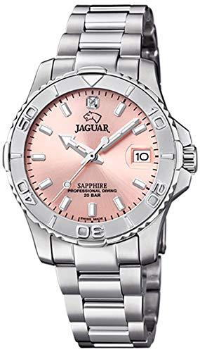 Reloj JAGUAR Executive SEÑORA, Swiss Made (Caja Acero, Esfera Rose, ÍNDICE Acero)
